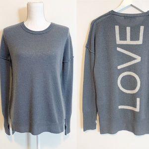 BOGO! 27 Miles Malibu 100% Cashmere LOVE Crewneck Sweater